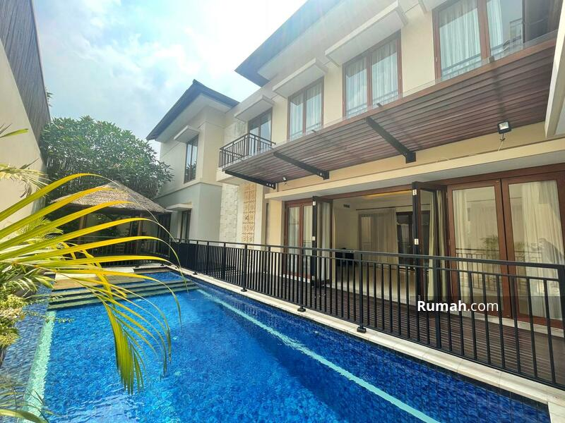 For Rent : Beautiful Modern Tropical House with Private Pool in Kemang Compound #105200064