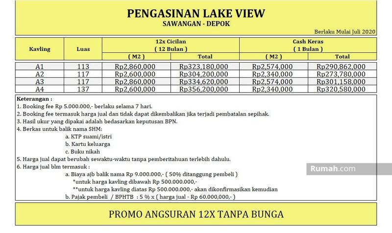 Untung 30% Setahun: Tanah SHM Sawangan Dekat RSUD Depok #105219624