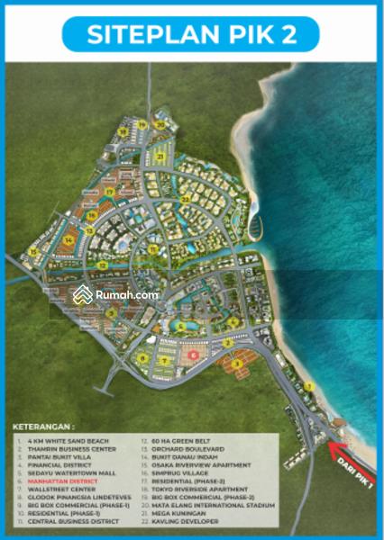 KAVLING RUMAH PIK 2 15x30 CLUSTER MANHATTAN UNIT LANGKA #105221010