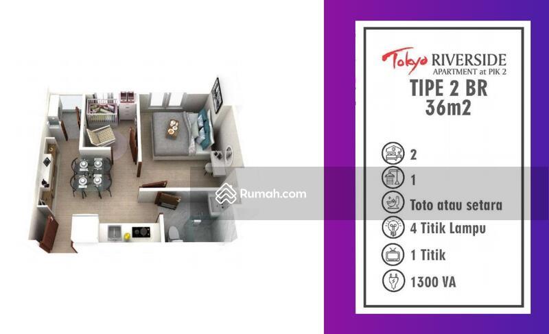 Jual rugi apartment Tokyo Pik2 uk 36m2 2br #105221752