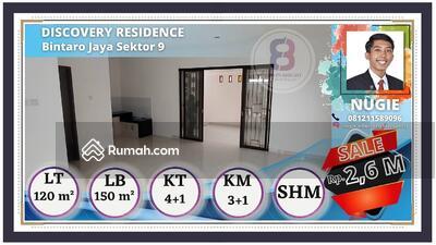 Dijual - Rumah siap huni baru renovasi dalam cluster premium discovery bintaro jaya