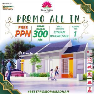 Dijual - Promo ALL IN Rumah 36/84 300jtan Dekat Stasiun Citayam