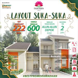 Dijual - Rumah Desain Layout Suka Suka, Mulai 600Jtan & Samping Alun Alun Depok