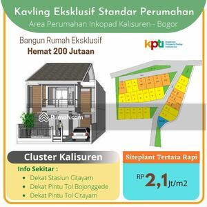 Dijual - Murah Tanah Kavling Dalam Perumahan Kalisuren Tajurhalang Bogor