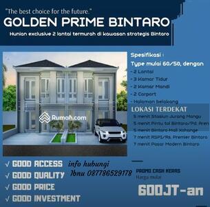 Dijual - Cluster 2 Lantai di Golden Prime Bintaro dekat Stasiun Jurang Manggu