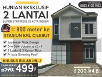 Dijual - Rumah 2 Lantai dekat Stasiun Cilebut : Japanese Style Design & Lokasi Super Strategis di Kota Bogor
