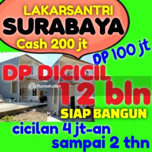 Dijual - Rumah Murah Surabaya Lakarsantri cash cuma 200 jt kredit siap bangun rumah 2 Lantai