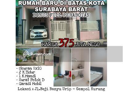 Dijual - Dijual Rumah Jl. Beji Banyu Urip Gempol Kurung Dekat Benowo, Surabaya Barat