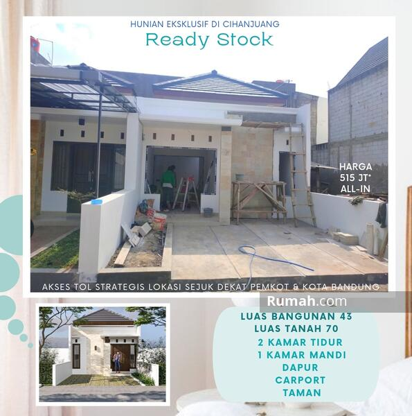 READY Hunian Eksklusif Rumah di Bandung Utara Kawasan Sejuk Siap Huni Dekat Tol #106302656