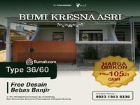 Dijual - Rumah murah & berkualitas di Bandung, 2 Kamar tidur, Diskon s. d 20jt