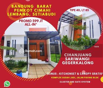 Dijual - Miliki Properti Bandung Utara Bonus Canopy Kitchenset Gratis Dekat Tol Pasteur Strategis