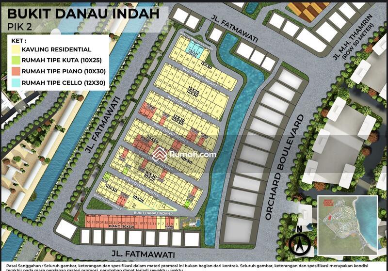 DIJUAL Kavling Bukit Danau Indah PIK2. Uk 300m2. Cicilan Panjang Banget !! #106461434