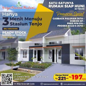 Dijual - Rumah millenial siap huni selangkah dari St Tenjo Cuma 3 menit