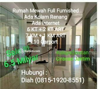 Dijual - TURUN HARGA! !! ! Rumah Mewah dengan kolam renang indoor plus Full Furnished