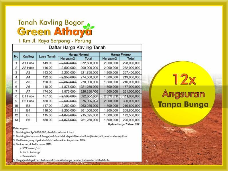 tanah murah dijual Bogor