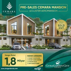 Dijual - CEMARA MANSION @ AEROMANSION, 1. 8 M-AN, FREE KANOPY KACA&AC, SMART HOME , SMART DOOR LOCK, KPR DP 10%/8X