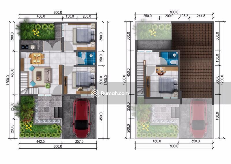Rumah 2 lantai design minimalis modern dikota semarang #107232698