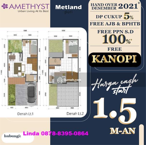 AMETHYST @METLAND PURI,NEW CLUSTER,RUMAH 2 LANTAI,1.5 M-AN,PROMO JULI FREE PPN,AJB & BPHTB #107283742