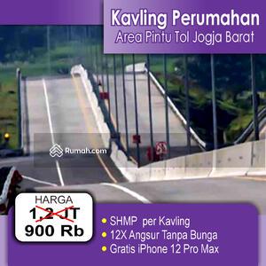Dijual - TERBATAS : Strategis Dekat Exit Tol Jogja Barat, SHM, 900 Rb-an