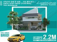 Dijual - Dijual Cepat Rumah Baru 2 Lantai Strategis Dekat SMA Al-Hikmah dan Masjid Agung SHM IMB