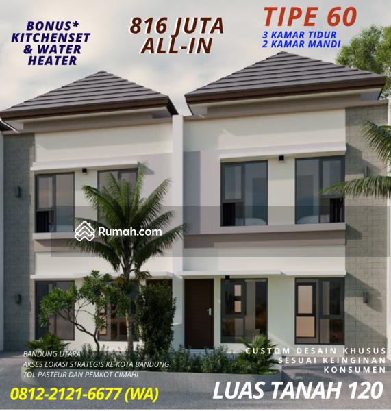 Custom Bandung Utara 3 Kamar 2 Lantai Lebar Muka 12 Bonus Kitchenset Water Heater #107640844