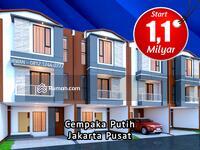 Dijual - Rumah Murah Cempaka Putih Jakarta Pusat