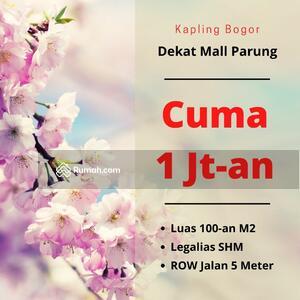 Dijual - Cuma 1 Jt-an/M2, Tanah SHM Cidokom Dekat Mall Parung