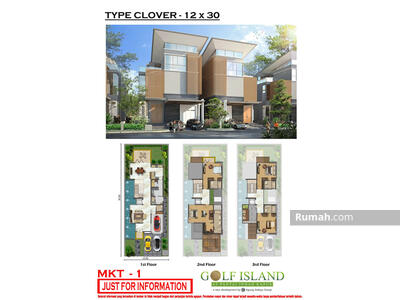 Dijual - Dijual CEPAT Cluster The Mozart Signature Golf Island 12×30