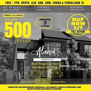 Dijual - START 500 JT AN! Alana Regency Tambak Oso, Surabaya