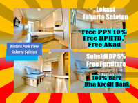 Dijual - Bintaro Park View 2BR 100% Baru, Bisa KPA