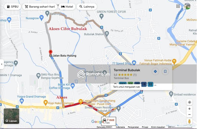 Tanah Kavling Siap Bangun di Kota Bogor Akses Dari Cifor Bubulak maupun dari Jalan Darmaga Bogor #108201986