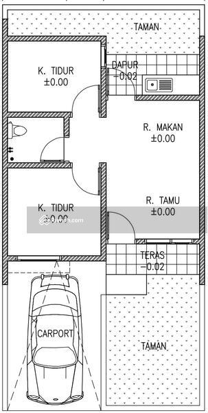 Rumah Minimalis 1 Lantai Dalam Cluster Lebar Jalan 6 Meter Aman Tenang Nyaman Akses Jalan 2 Mobil #108776652