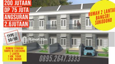 Dijual - Rumah Murah Bangsri Sukodono sidoarjo dekat surabaya 2 lantai harga 200 300 jutaan