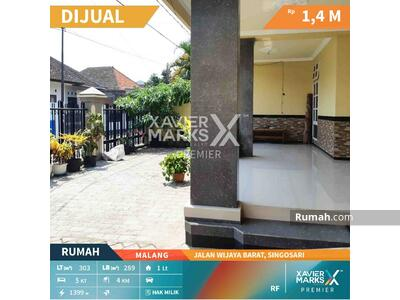Dijual - Dijual Rumah Jalan Wijaya Barat Singosari Malang Kawasan Nyaman Aman