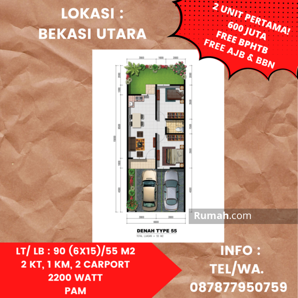 Jual rumah di Bekasi #108970464