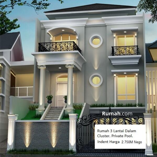 Rumah Mediterania Private Pool 3Lantai Indent Dalam Cluster Jl. Raya M Kahfi 1 One Gate System #108977366