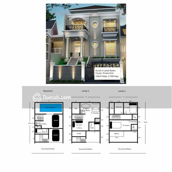 Rumah Mediterania Private Pool 3Lantai Indent Dalam Cluster Jl. Raya M Kahfi 1 One Gate System #108977378