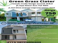 Dijual - Green Grass Ciater rumah cantik 2 lantai harga murah banget di bsd