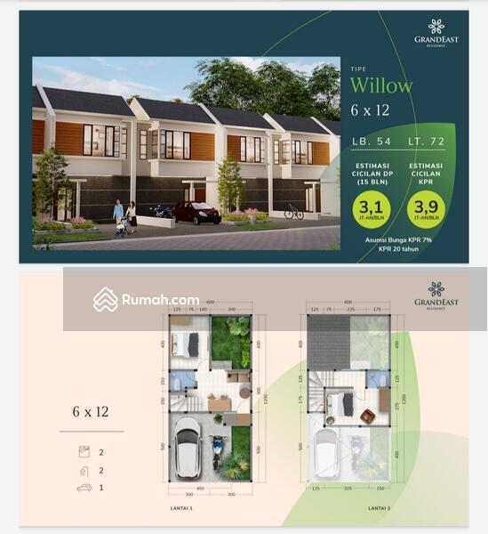 Rumah Mewah 2lt Hanya 500jt an #109154358
