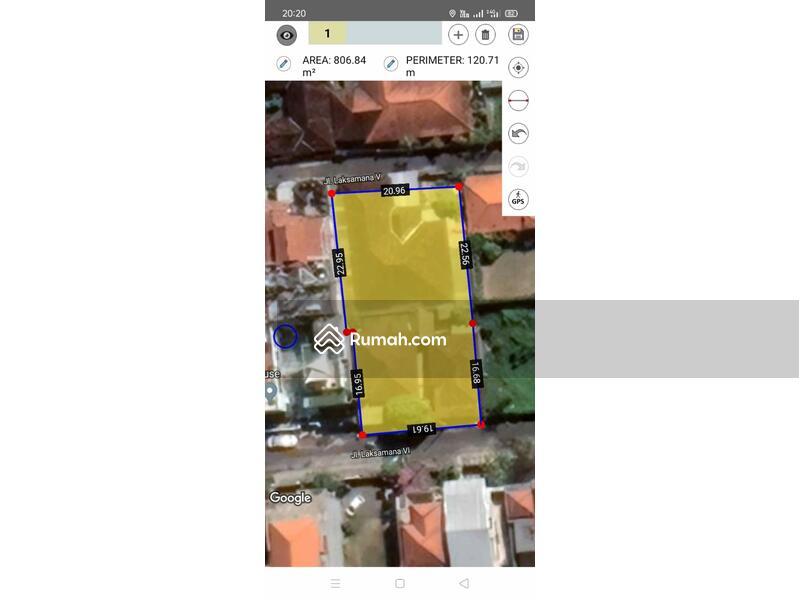 Renon ~ Tanah  848 m² bonus bangunan rumah layak huni sudah ada IMB #109156962