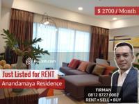 Disewa - Disewakan Murah 2 Bedrooms 2 BR Furnish Luas 150 sqm Apartemen Anandamaya, Sudirman, Jakarta Pusat