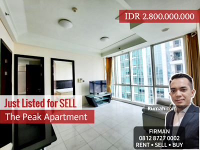 Dijual - Dijual Murah 2 Bedrooms 2 BR Furnished Luas 82 sqm Apartemen The Peak, Setiabudi, Jakarta Selatan