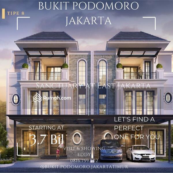 Bukit Podomoro East Jakarta newest townhouse with premium facilities, shopping arcade, tennis court #109216110