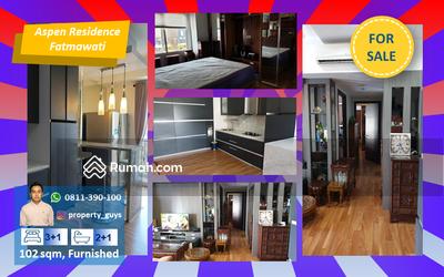 Dijual - Aspen Residence 3BR+1, luas 102, furnished