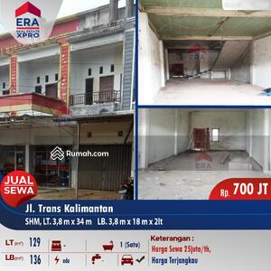 Dijual - Ruko Kosong Jalan Trans Kalimantan, Kubu Raya
