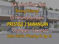 Dijual - Open House Perumahan Prestige 2 Sawangan Cluster 2 Lantai Harga 500 Juta-an