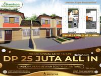 Dijual - Cluster Idaman Millenial Terbaik di Selatan Bintaro : Bebas Biaya Surat2 & PPN