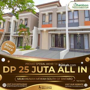 Dijual - Sambut Akhir Tahun Dengan Punya Rumah Mewah di Lokasi Premium : Siap Huni DP Cuma 25 Juta All In