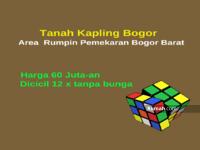 Dijual - Tanah Kapling Bogor 60 Juta-an